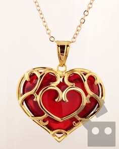 Skyward Sword: Heart Container Necklace by The PixelSmithy