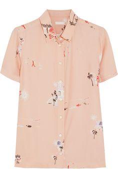 J.Crew - Grandpa Hawaiian-print silk shirt