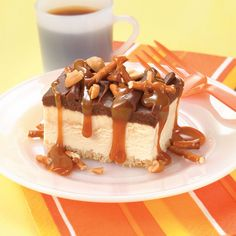 Caramel Topped Ice Cream Dessert Recipe from Land O'Lakes