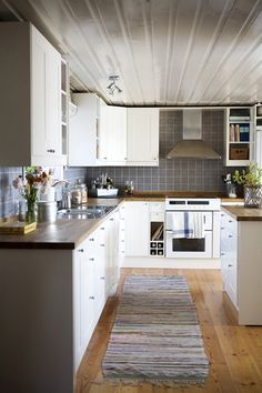back splash + counter tops.