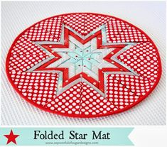 Folded Star Mat - A Spoonful of Sugar