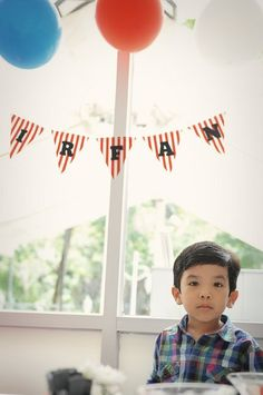 make this garland for a friend's son birthday