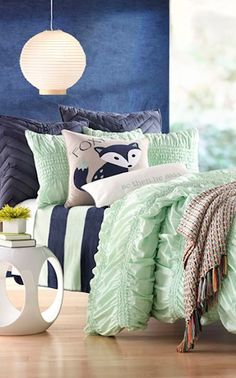 ruffled #mint bedding http://rstyle.me/n/ixrydr9te