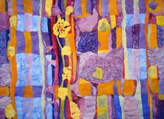 """Impressions of Grandmothers Quilt"" -  watercolor by Lynda Hoffman-Snodgrass"