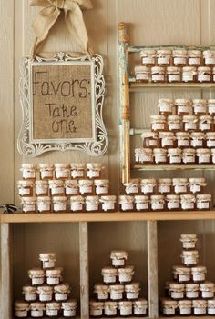 rustic jars of honey? I know you don't like but if you have a barn wedding it would be cute. Plus you can't buy jones for everyone. @Mariya Matveyeva