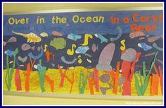 classroom idea, coral reef preschool, the ocean, bulletin boards, ocean themes, board round, board idea, preschool classroom, coral reefs