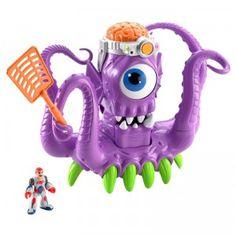 The Imaginext Tentaclor is an interactive purple, tentacle-wielding alien playset.