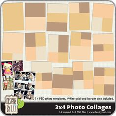 3x4 photo collages
