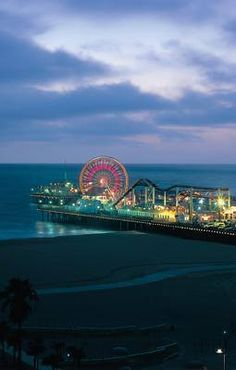 A classic choice for summer nights. The Santa Monica pier.