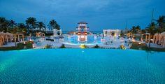 The Main Pool at Night at Sandals Emerald Bay in Great Exuma, Bahamas