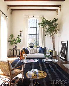 Ellen Pompeo's living room: A custom-made sofa by designer Martyn Lawrence-Bullard.