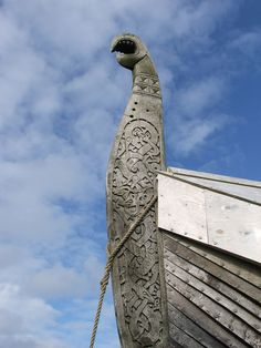Viking longship with a dragon head!