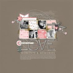 #valentines #scrapbook page from Kayleigh at DesignerDigitals.com