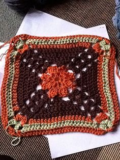 """Ravelry: Project Gallery for Spring Fling 12"""" Square pattern by April Moreland"""