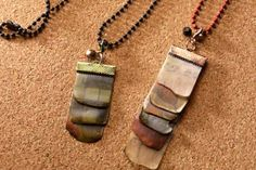 Make a cool necklace using ICE Resin.   This is what happens when you combine scrapbook paper with the product.