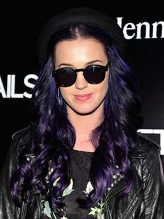 Katy Perry goes purple!
