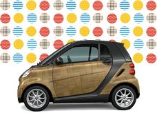 Smart For Two.  I can't help it - I LOVE these little European cars.  I first saw a model like this in Germany in 2001 and have wanted one ever since.  Price is great (15,000) and the 41 m.p.g. is FANTASTIC, although husband hates idea :)  I am still considering...