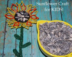 Sunflower Craft for Kids - #finemotor #play