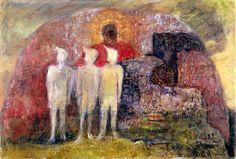 Kjarval - Figures in Landscape