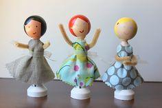 project, idea, tutorials, crafti, dande, clothespin dolls, doll tutori, kid craft, clothespins