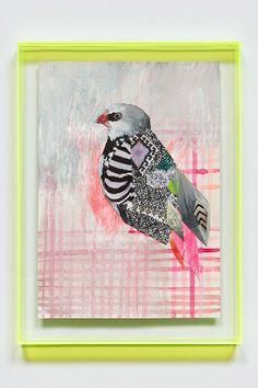 Fluor art bird by Miranda Skoczek