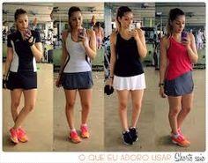 Short saia/ moda fitness