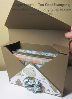 Easy Card Box With The Diagonal Plate Tutorial