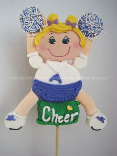 Fun Cheerleader #marshmallow #pop #favors #cheerleader