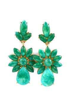 Emerald Lucite Delphine Earrings