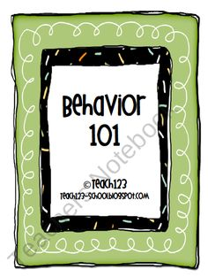 Behavior charts $