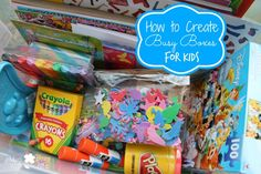 How to Create Busy Boxes for Kids – Perfect for the Summer!