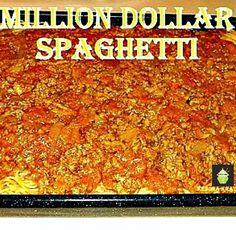 Million Dollar Spaghetti   Easy recipe and always a hit with the family! #pasta #bake #milliondollar #dinner