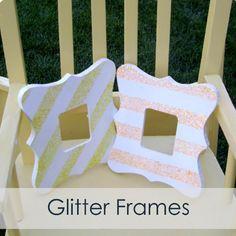 Our Thrifty Ideas: {Tutorial} Glitter Frame