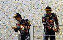Webber & Vettel on the Podium at the Brazilian GP
