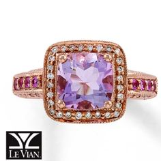 Le Vian Cotton Candy Amethyst set in Strawberry Gold...my upgrade ;)