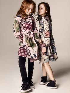 Burberry luxe kids fashion for fall/winter 2014 Bold fall color prints with black