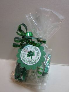 Addicted to Cardmaking: St. Patrick's Day treat bags for co-workers
