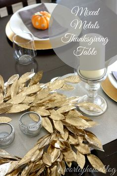 mixed metals thanksgiving table