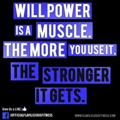 will power is a muscle