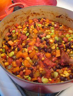 #Recipe: Big Pot of Vegetable Chili.