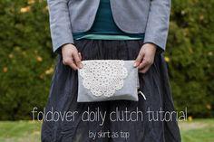 foldover doily clutch tutorial by skirt_as_top, via Flickr