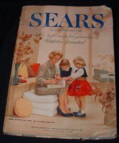 Remember the BIG catalogs?  1960s. We could not WAIT to get ours. Straight to the TOY section! Oh the joys!