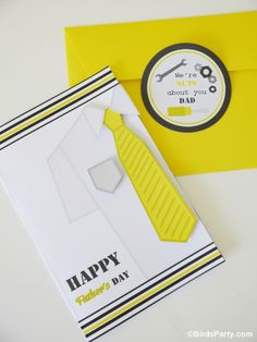 FREEBIE: 3-D Happy Father's Day Card by Bird's Party
