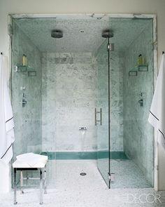 Integrated sunken tub inside shower