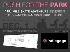 Graphic for our Push for the Park effort. Let's get this skatepark built soon!