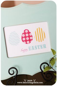 Easter Art Free Printable by @Jamie Bare of @The Crafting Chicks