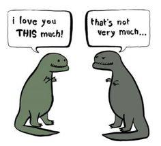 t-rex love.....teehee