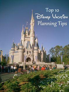 Top 10 Disney Vacation Planning Tips