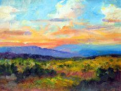 Step 1: Impressionist landscape. Art Talk - Julie Ford Oliver