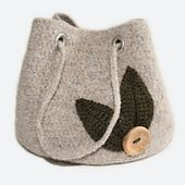 Ravelry: Grab and Go Project Bag - Felted Crochet Pattern pattern by Kim Miller bag, crochet patterns